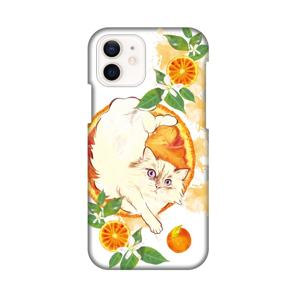 液体動物 もふもふ にゃんことフレッシュなオレンジ iPhone12 / 12 Pro