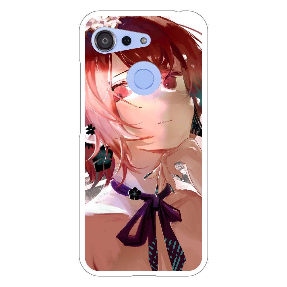 耳飾り スマホケース Android One S6 ハードケース