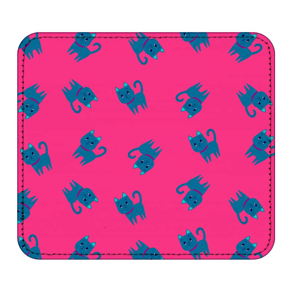 ViViVi Cat's -Kate The Noble Cat- Pink レザーマウスパッド(スクエア)