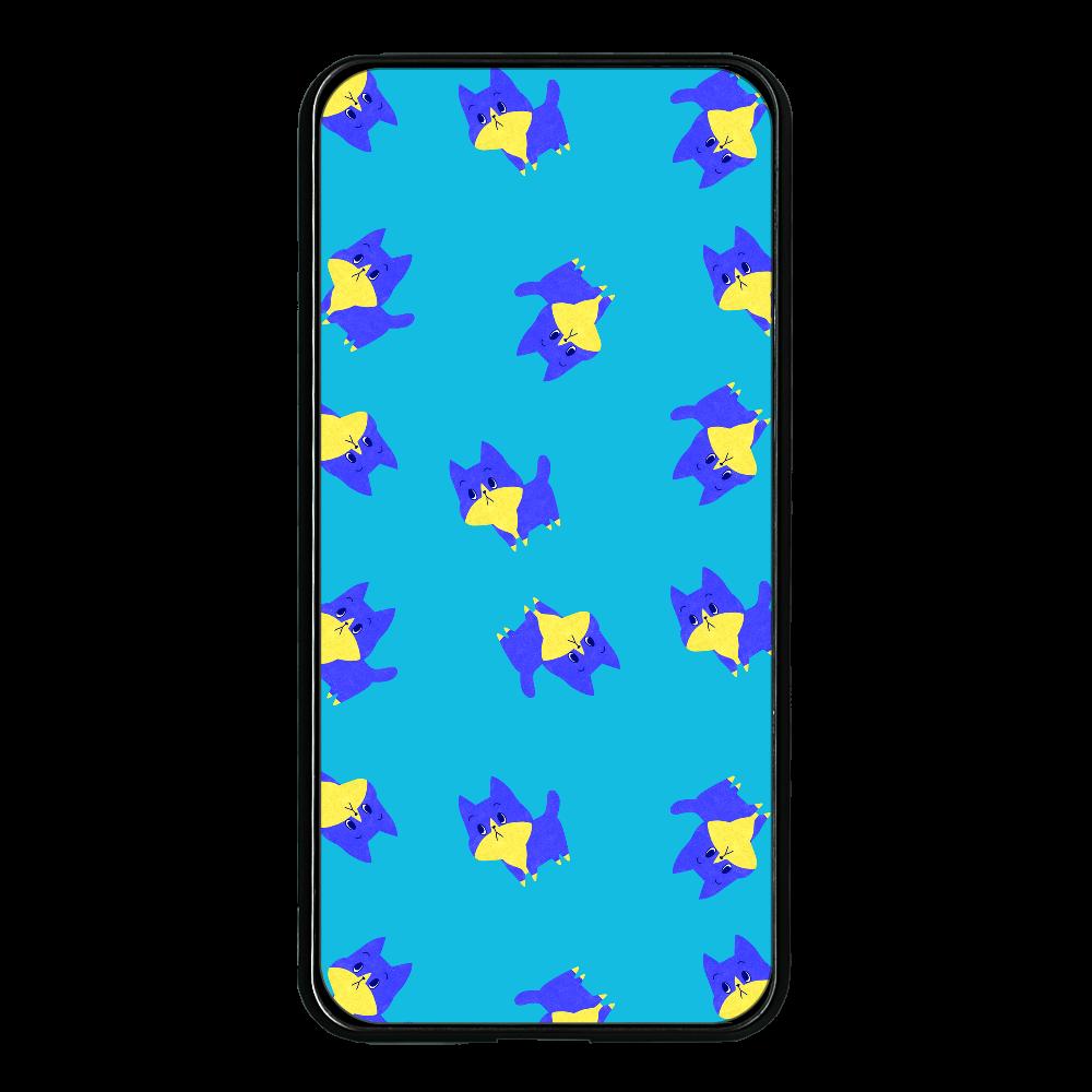 ViViVi Cat's -Blue The Chubby Cat- Blue 大容量モバイルバッテリー 両面ガラス 8000mAH