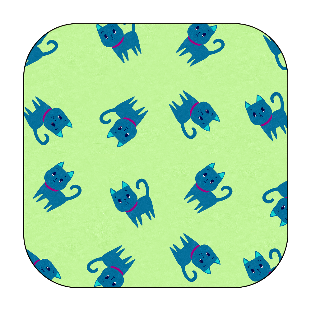 ViViVi Cat's -Kate The Noble Cat- Green ワイヤレス充電器スクエア5W