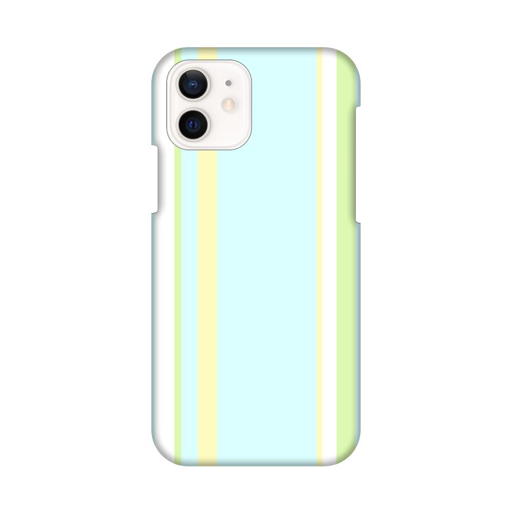 マルチストライプ(水色Ⅰ)iPhoneケース iPhone12 / 12 Pro