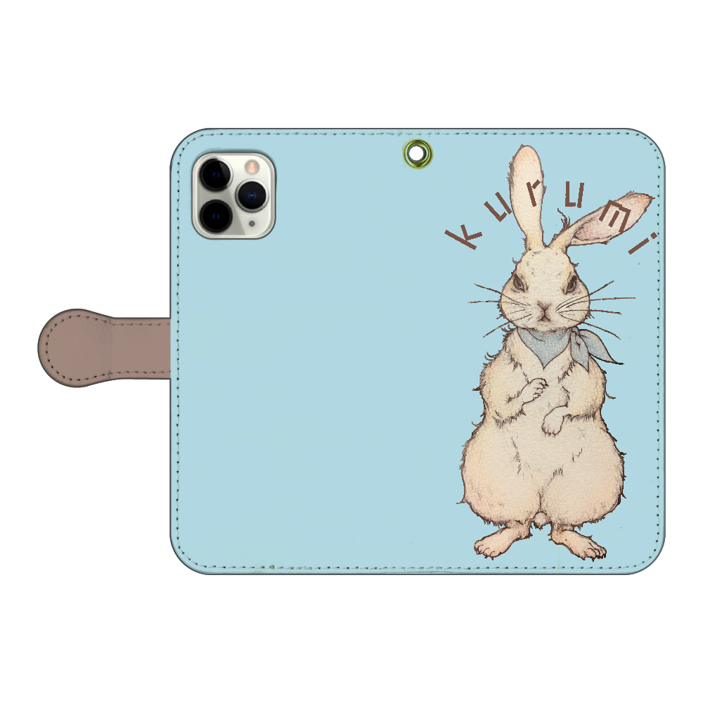 ウサギのkurumiちゃん iPhone11 Pro 手帳型スマホケース