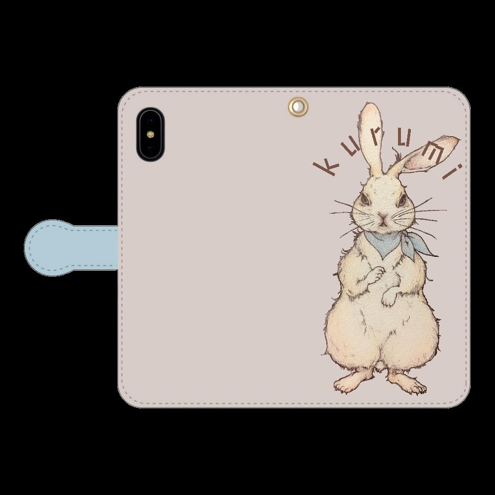 ウサギのkurumiちゃん iPhoneX/Xs 手帳型スマホケース