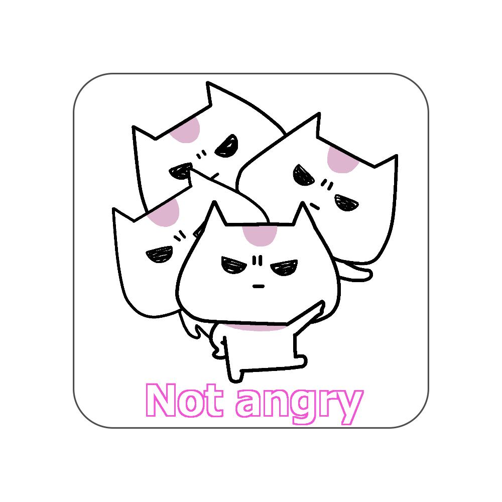 Not angry vol.2 全面プリントハンカチタオル
