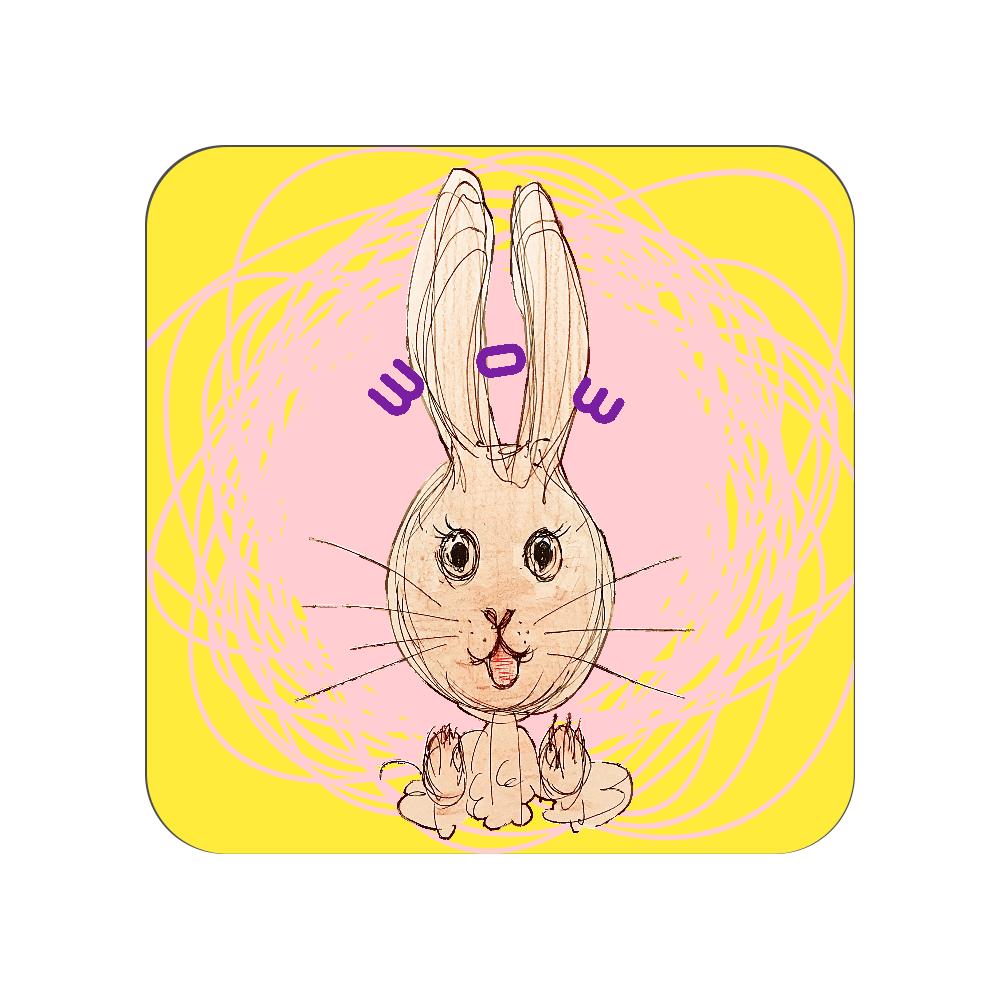 ウサギのびっくりポン! 全面プリントハンカチタオル