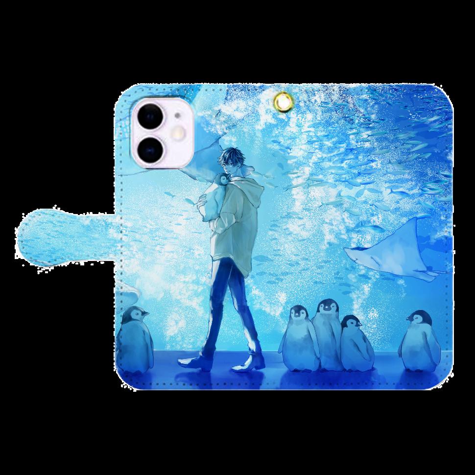 AQUARIUM スマホケース iPhone12mini 手帳型スマホケース