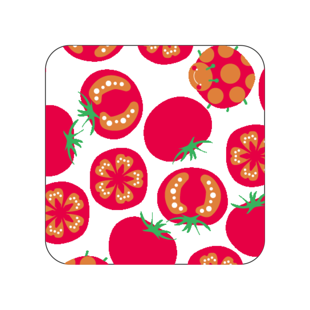 トマトマチガイサガシ 全面プリントハンカチタオル