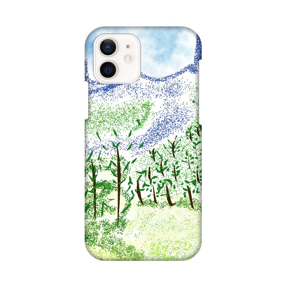 iPhone ケース【マイナスイオン感じる山景】 iPhone12 / 12 Pro
