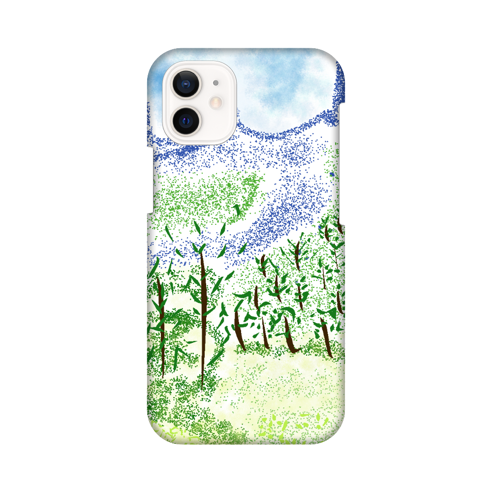 iPhone ケース【マイナスイオン感じる山景】 iPhone12 mini