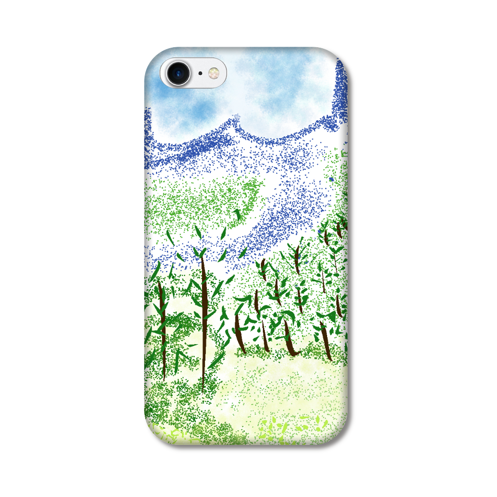 iPhone ケース【マイナスイオン感じる山景】 iPhoneSE2