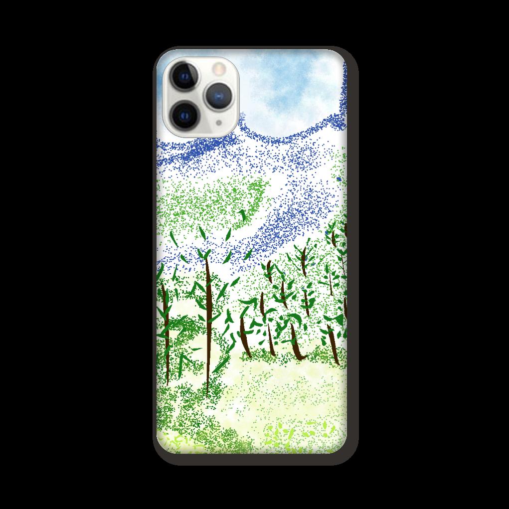 iPhone ケース【マイナスイオン感じる山景】 iPhone 11 ProMAX
