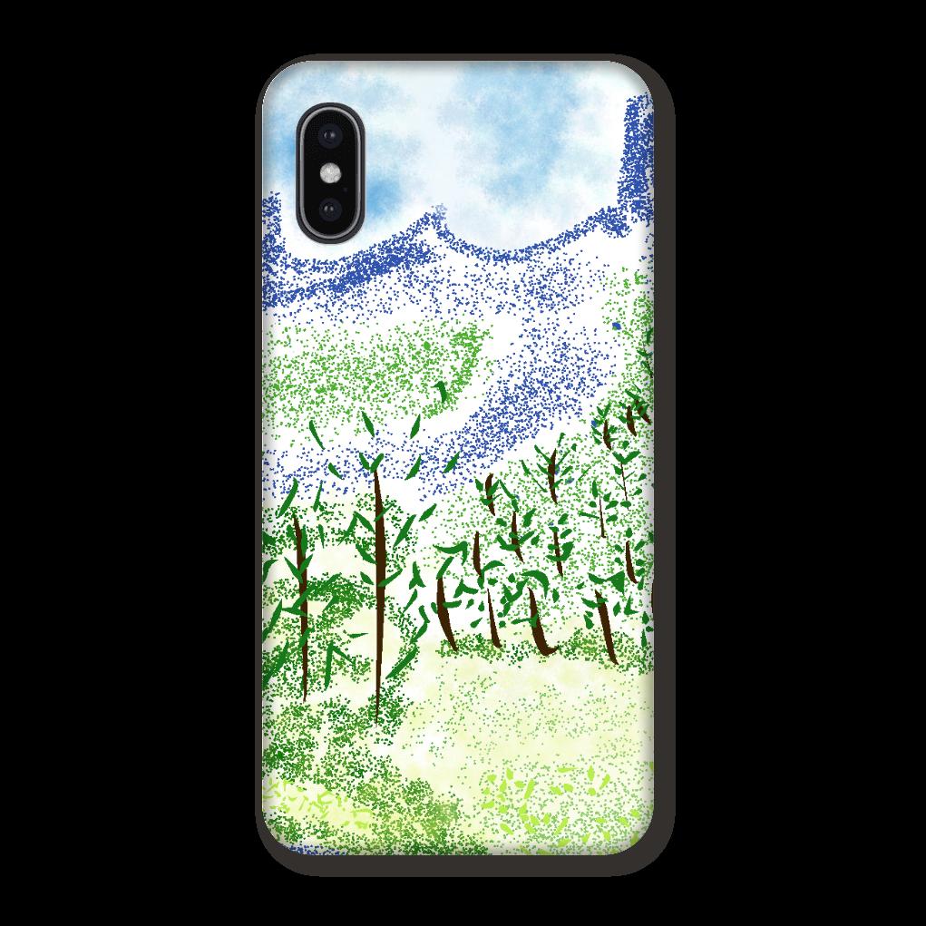 iPhone ケース【マイナスイオン感じる山景】 iPhoneX/Xs