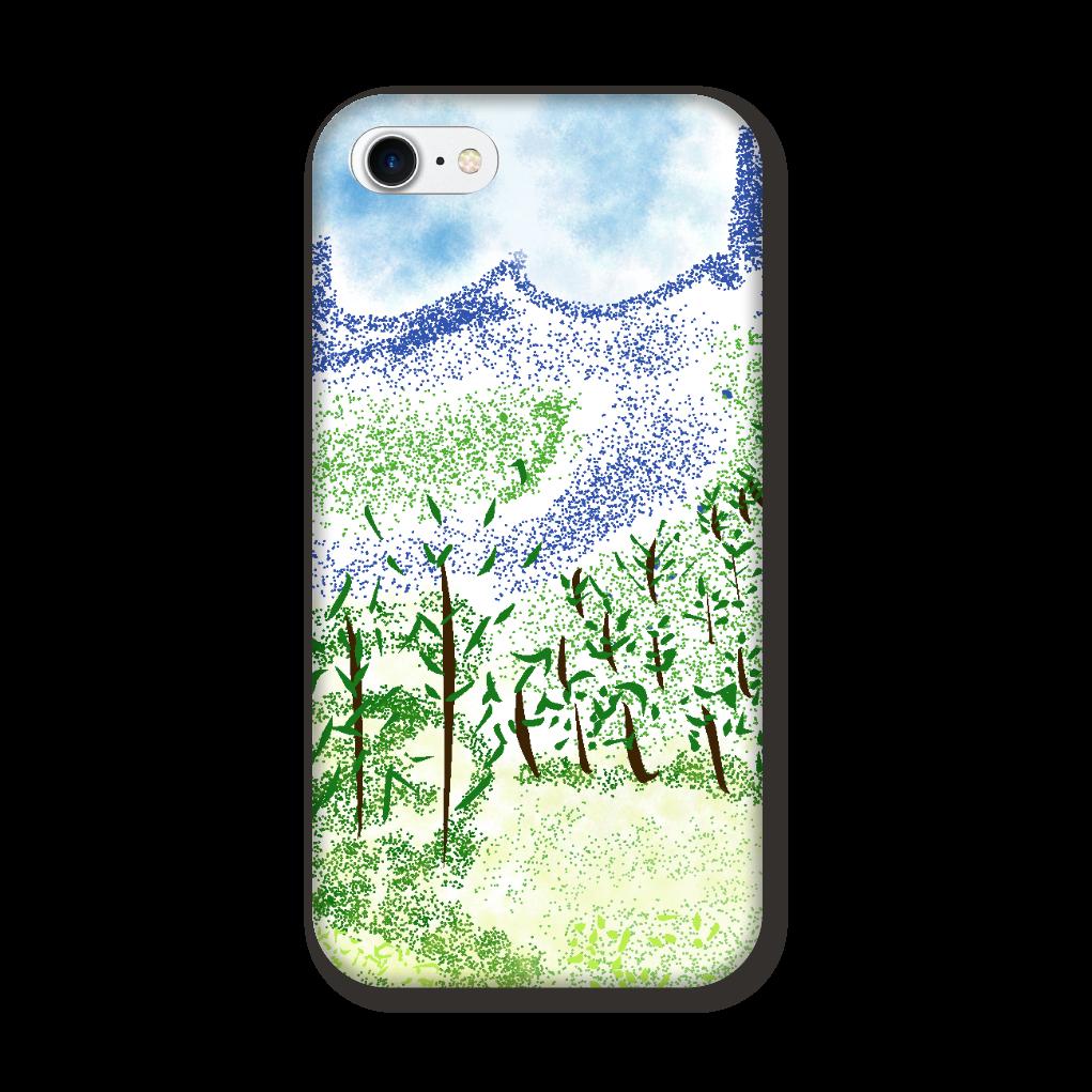 iPhone ケース【マイナスイオン感じる山景】 iPhone8