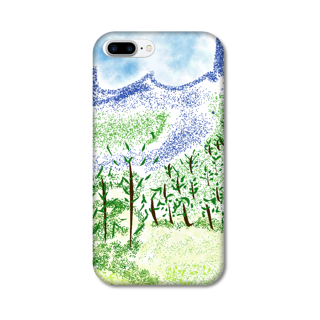 iPhone ケース【マイナスイオン感じる山景】 iPhone8Plus