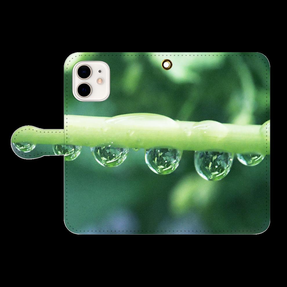 しずくハーモニー-01、iP12 iPhone12/12pro 手帳型スマホケース