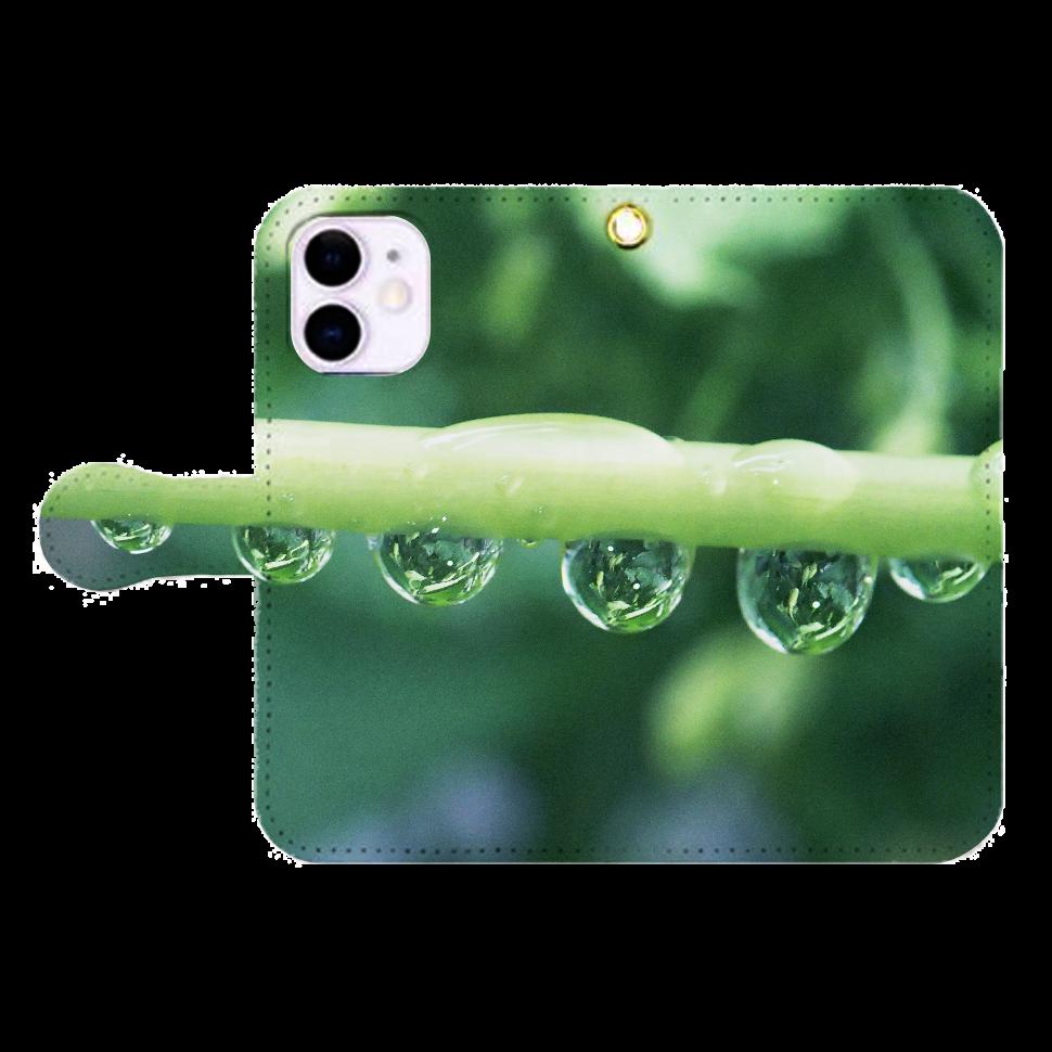 しずくハーモニー-01、iP12mini iPhone12mini 手帳型スマホケース