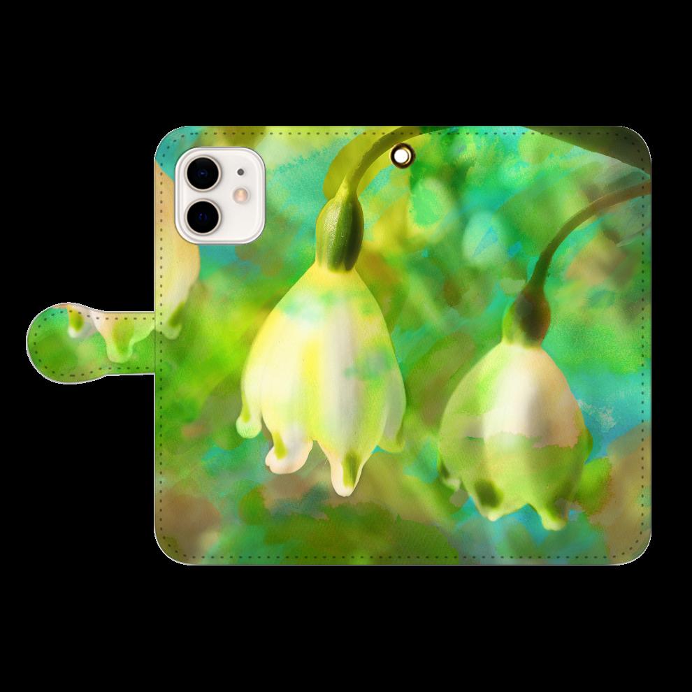 揺れる思い、iP12 iPhone12/12pro 手帳型スマホケース