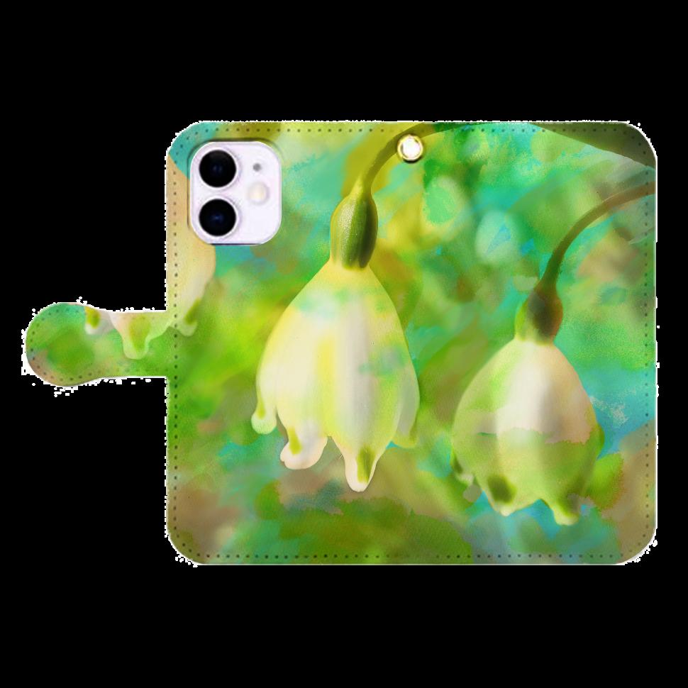 揺れる思い、iP12mini iPhone12mini 手帳型スマホケース
