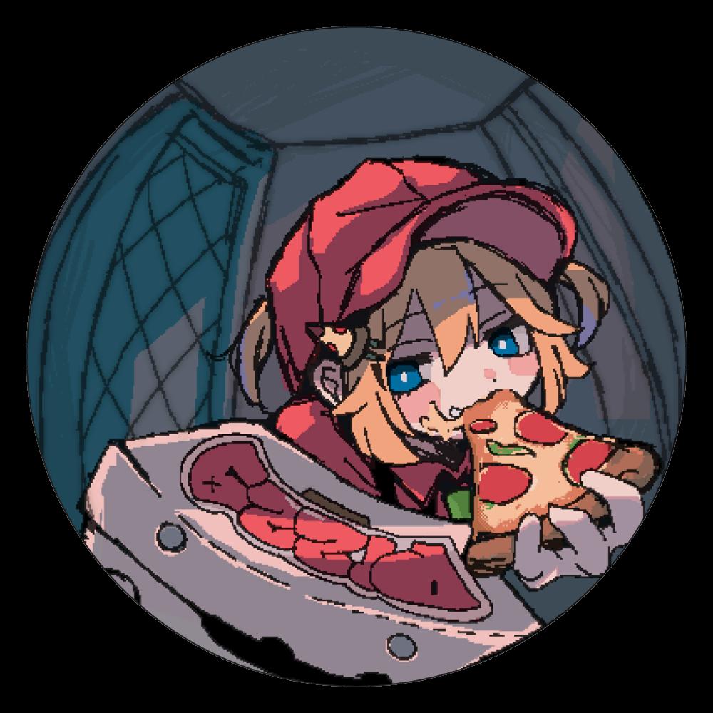 ピザ配達員 白雲石コースター 丸