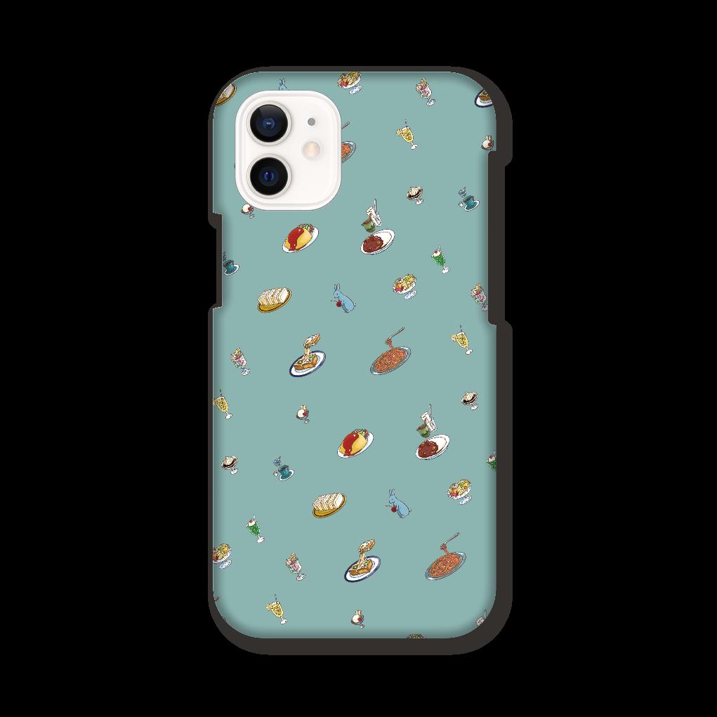 純喫茶ブルーラビット 総柄モチーフのiPhone12miniケースGR iPhone12 mini