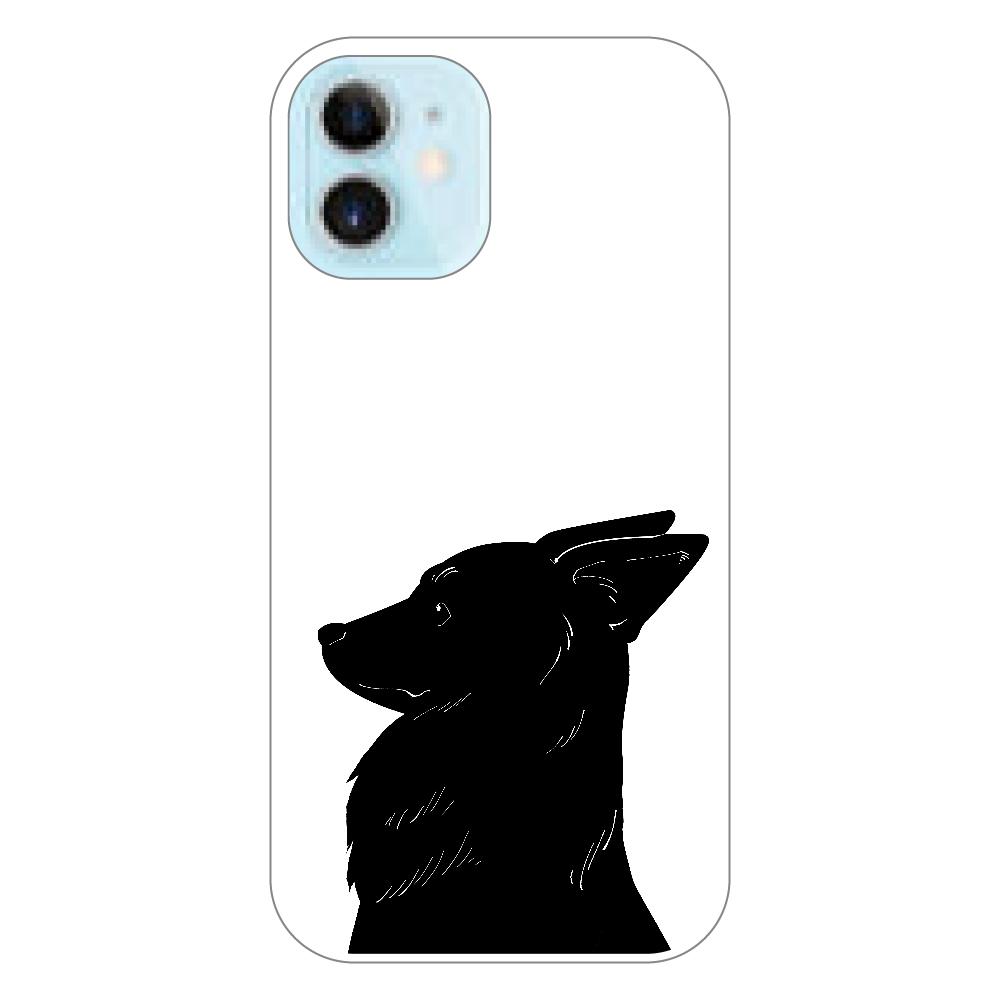 くろいぬさん 横顔iPhoneケースクリア(12mini) iPhone12 mini(透明)