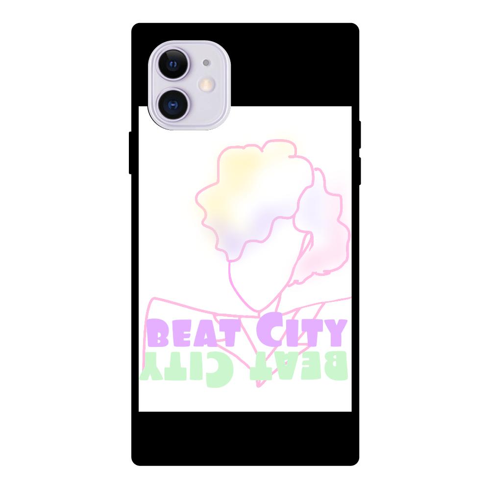 Beat City iPhone11 スクエア型強化ガラスケース  クリア iPhone11 スクエア型強化ガラスケース