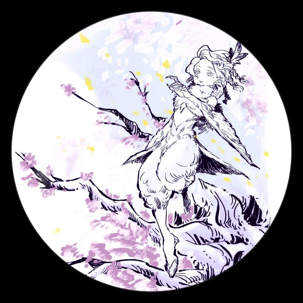 「止まり木」色違い 白雲石コースター 丸