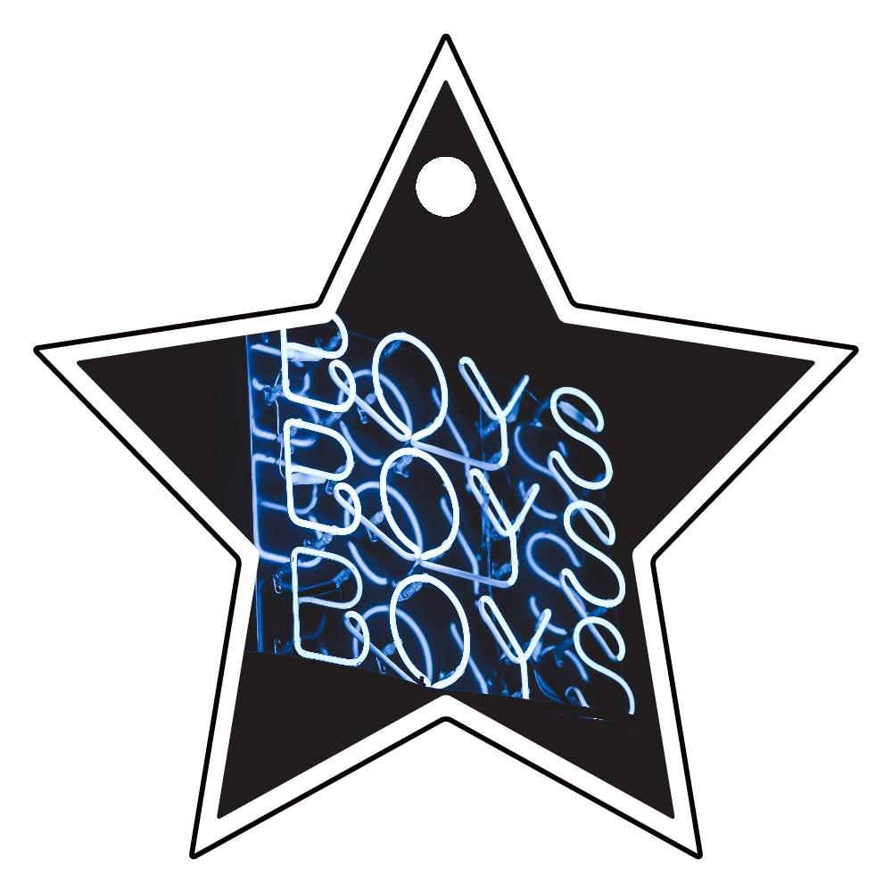 アクリルキーホルダー 星形 (4cm) クリア BOYS アクリルキーホルダー 星形 (4cm)