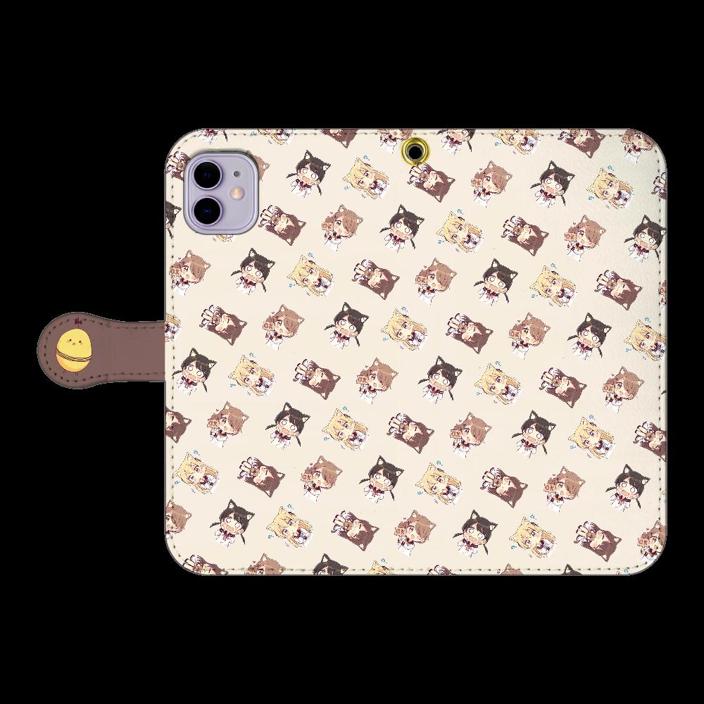 けもみみちゃん  スマホケース3 iPhone11 手帳型スマホケース