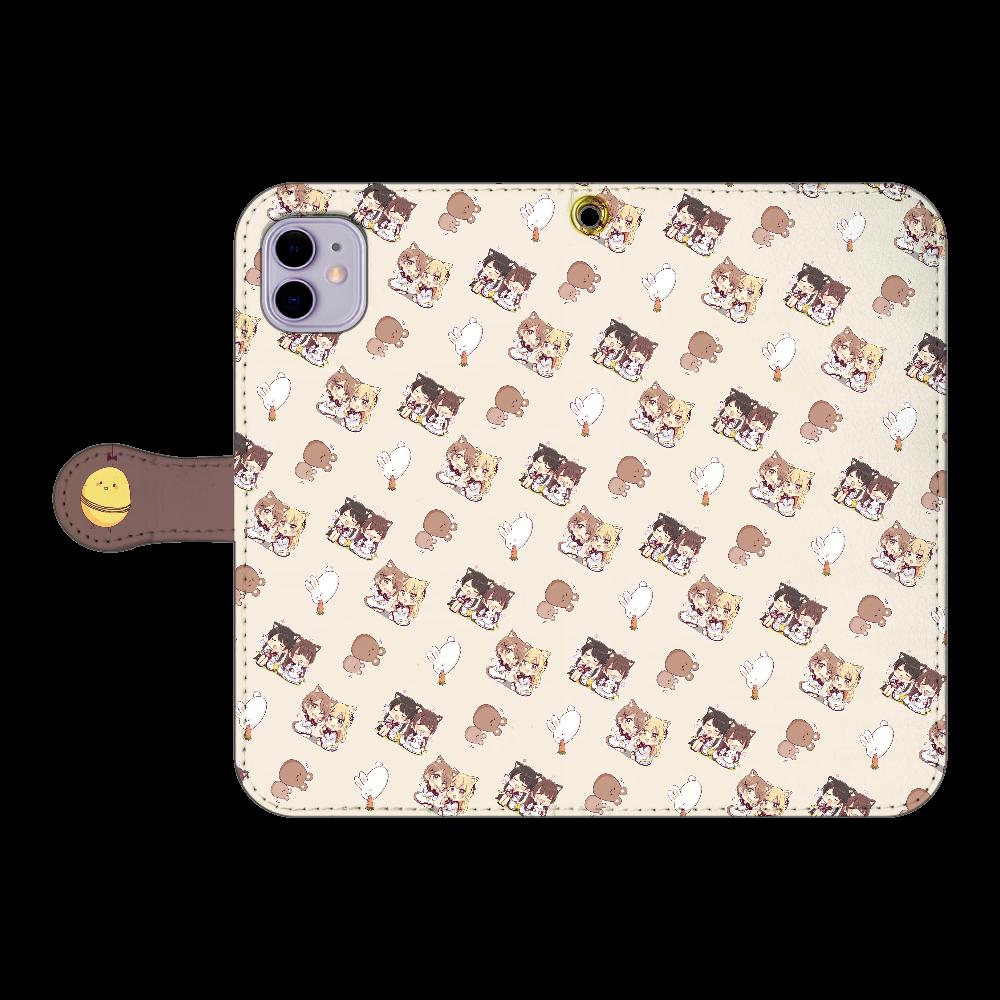 けもみみちゃん  スマホケース2 iPhone11 手帳型スマホケース