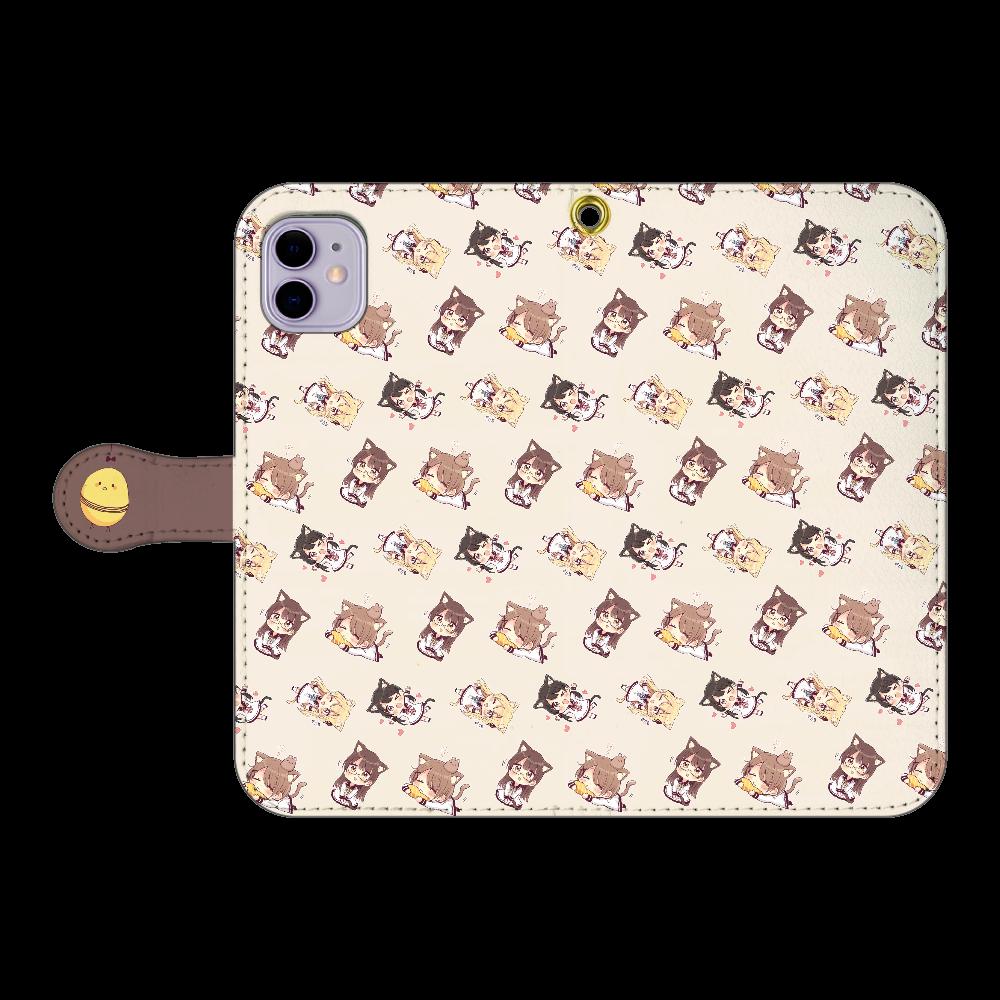 けもみみちゃん  スマホケース1 iPhone11 手帳型スマホケース