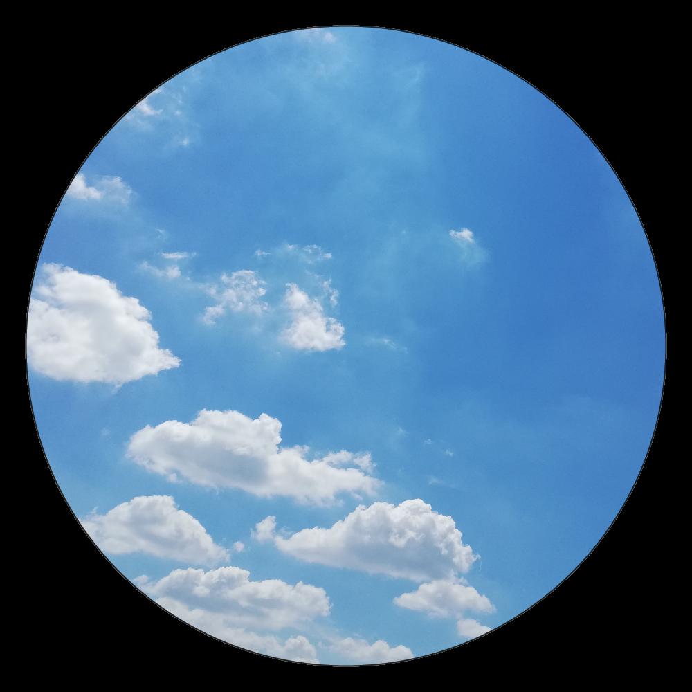 トイストーリー風な雲♡ 白雲石コースター 丸