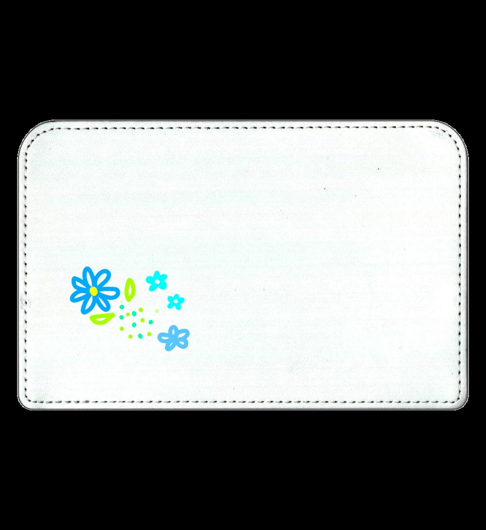 青い花のポーチ 化粧ポーチ