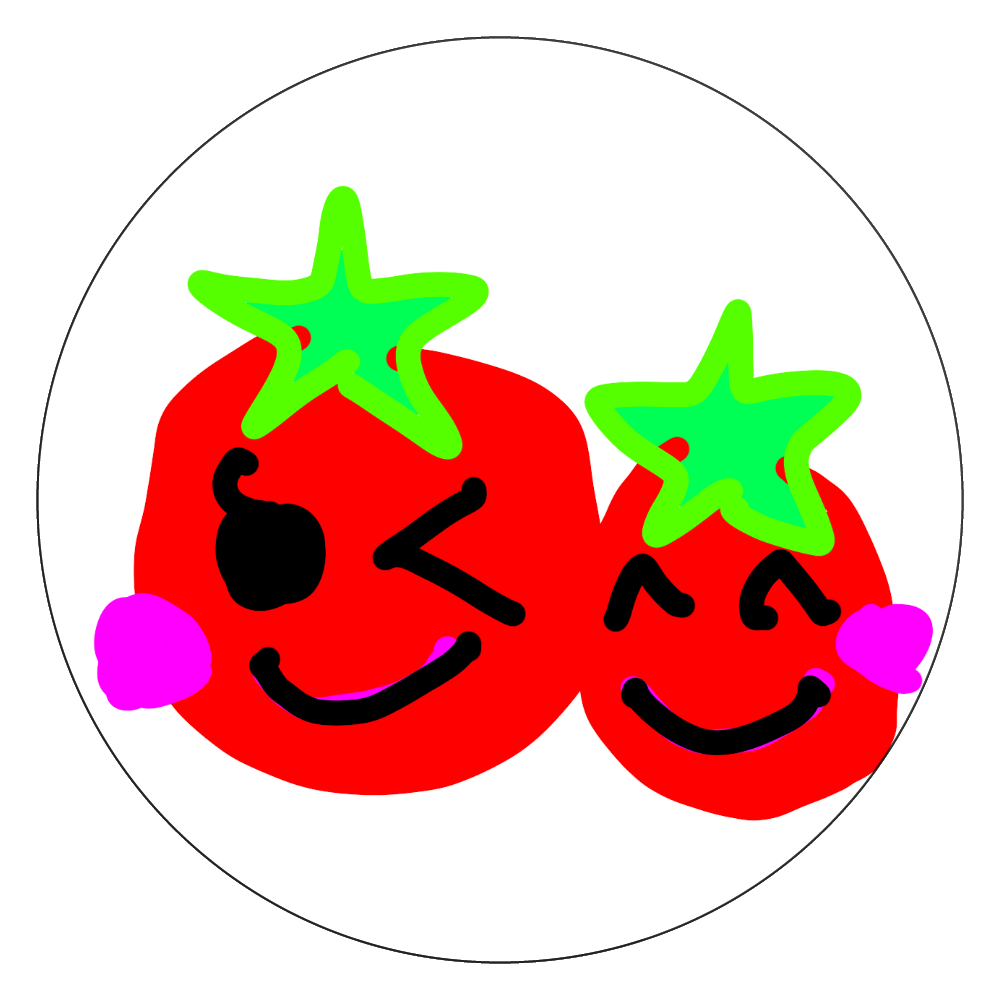 トマトちゃんのコースター 白雲石コースター 丸