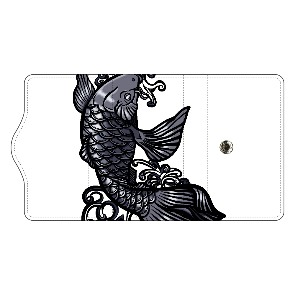 鯉の滝登り 黒 キーケース