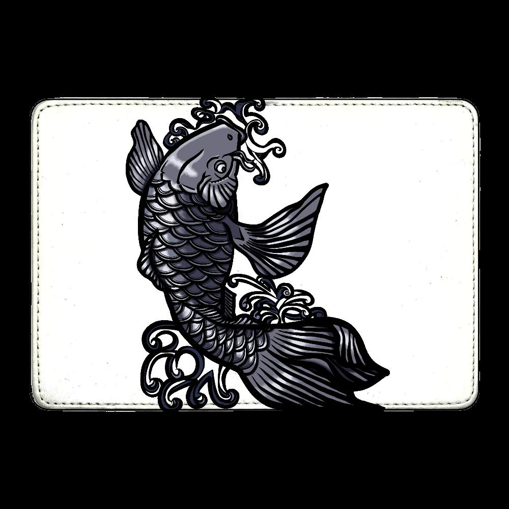 鯉の滝登り 黒 カード収納ケース