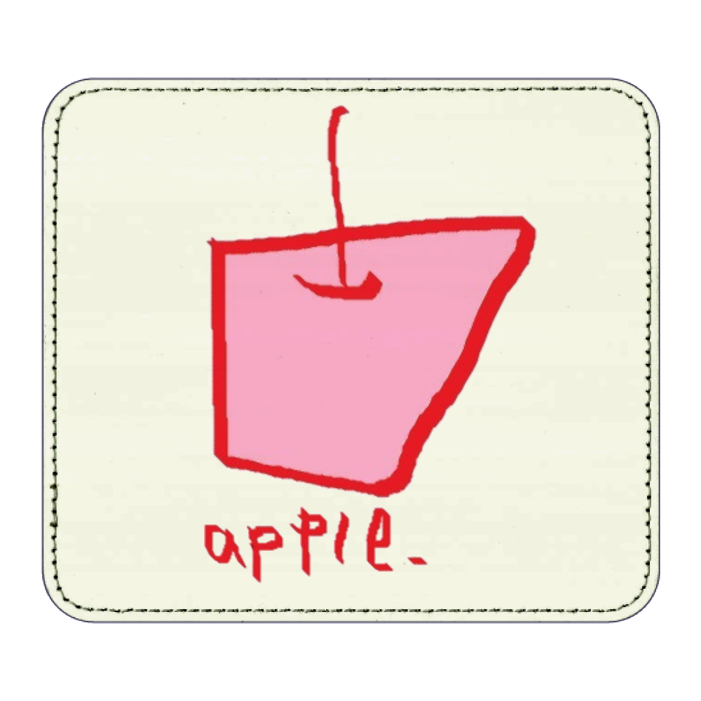 apple. レザーマウスパッド(スクエア)