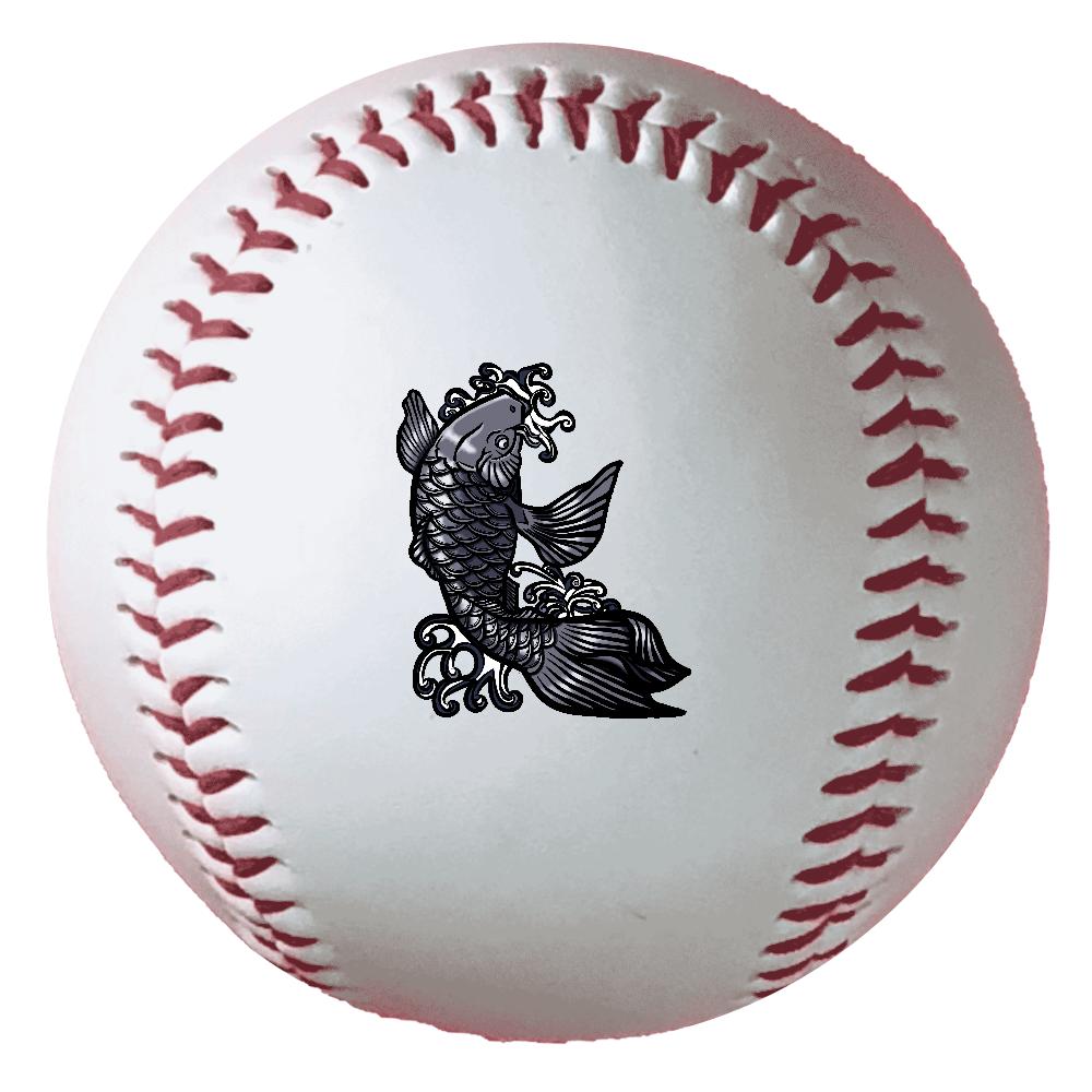 鯉の滝登り 黒 野球ボール(硬式)