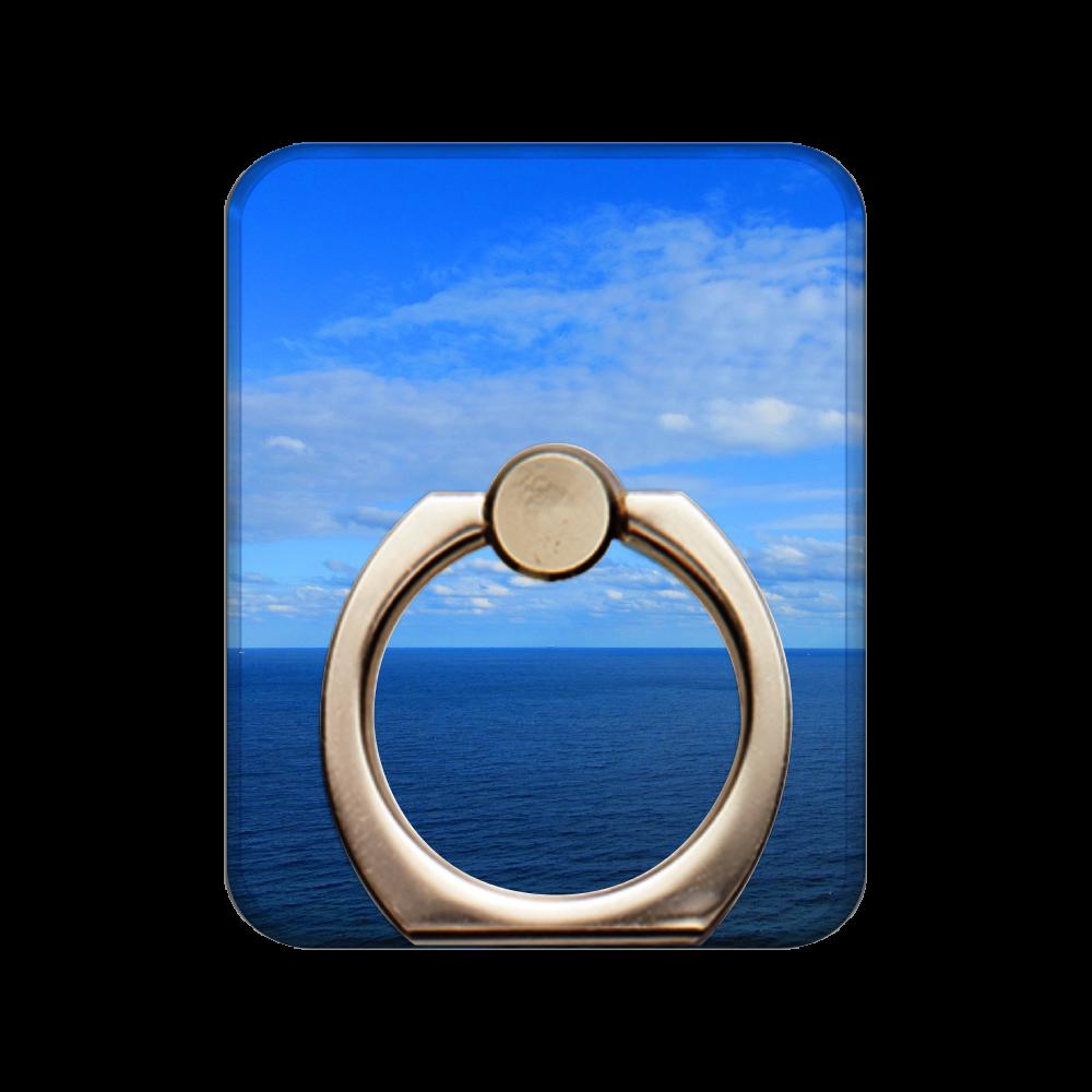 青い空と藍色の海スマホリング スマホリング