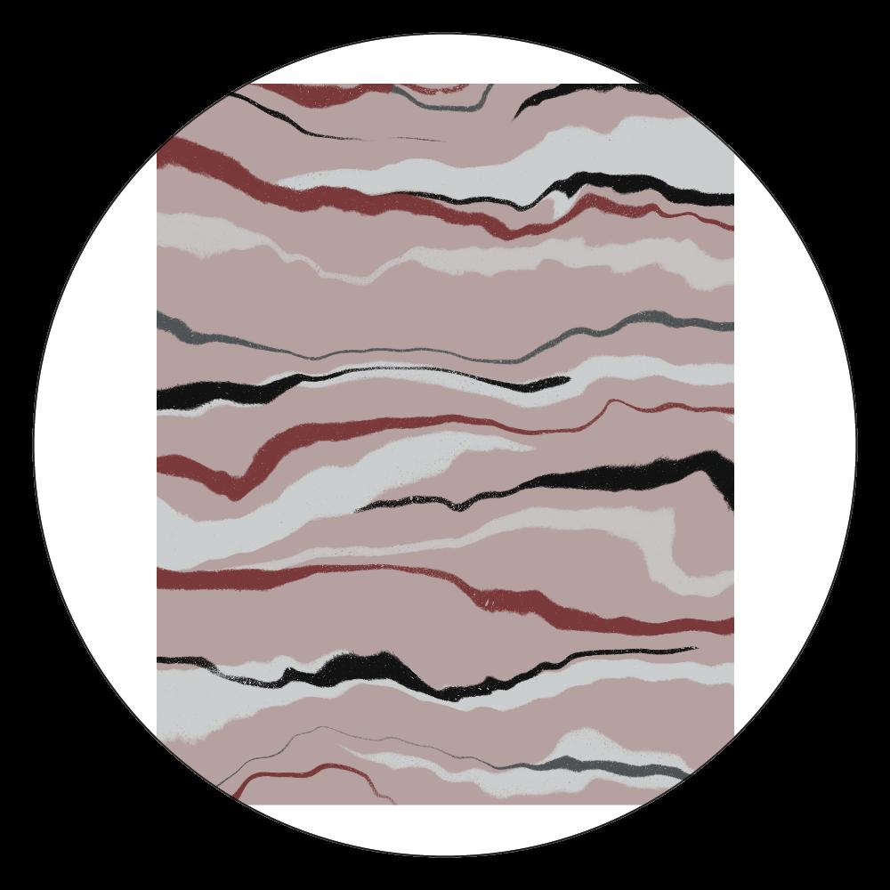 マーブリングピンク 白雲石コースター 丸