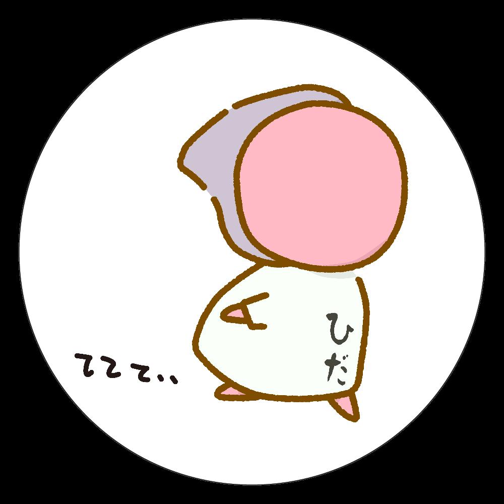 たまには、シャツぼぼ。 白雲石コースター 丸