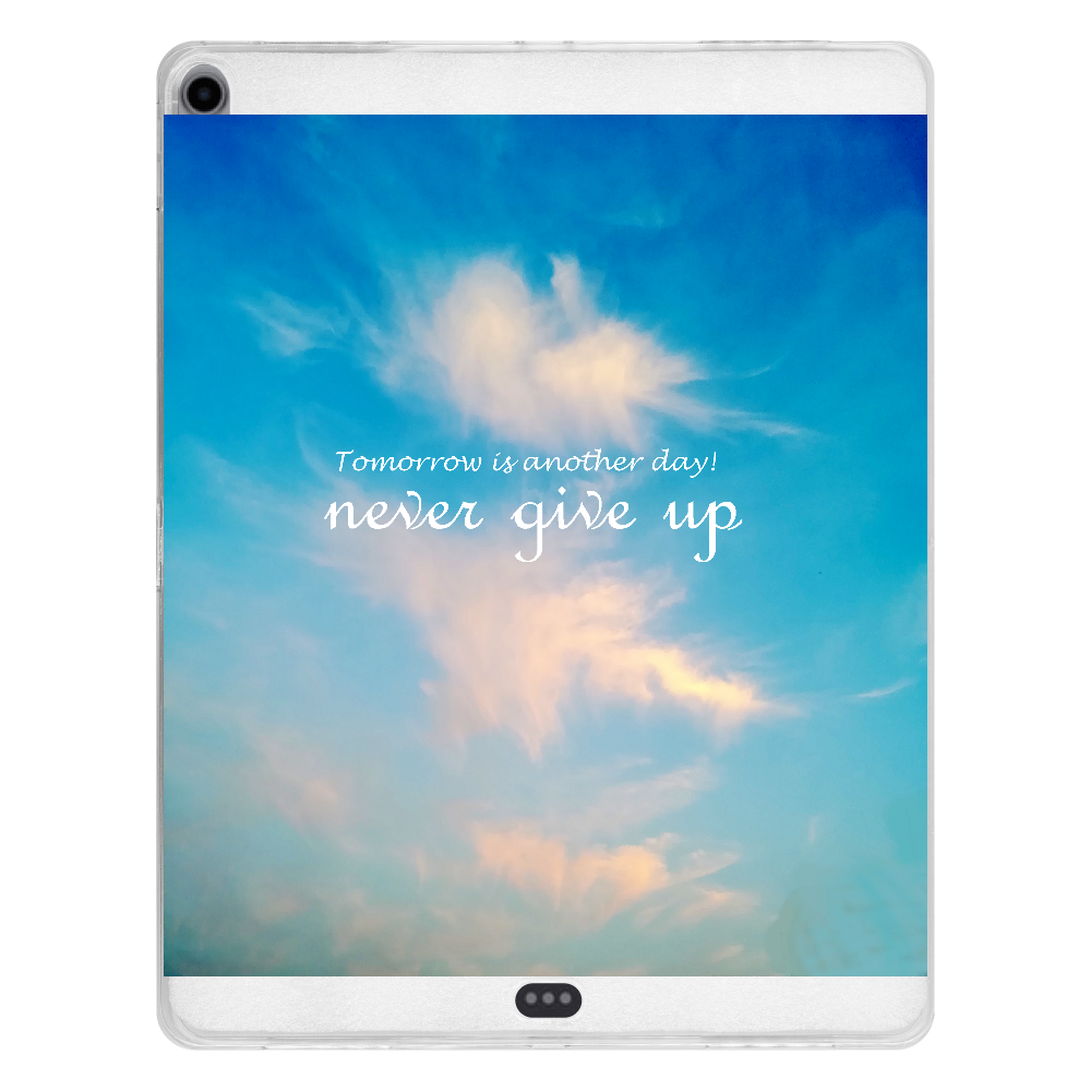 never give up! iPad Pro 12.9インチ(2018年モデル) タブレットケース