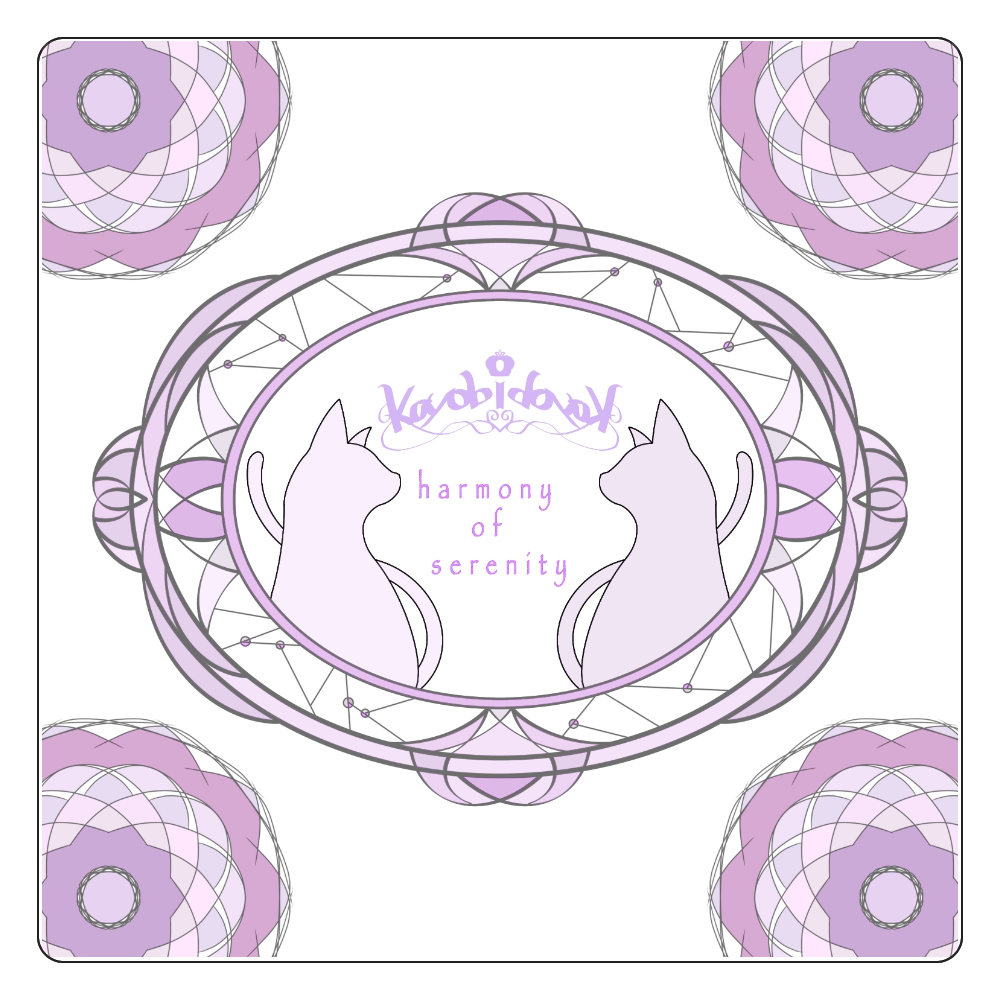 【伽よう日】猫コースター(バイオレット) 白雲石コースター 四角