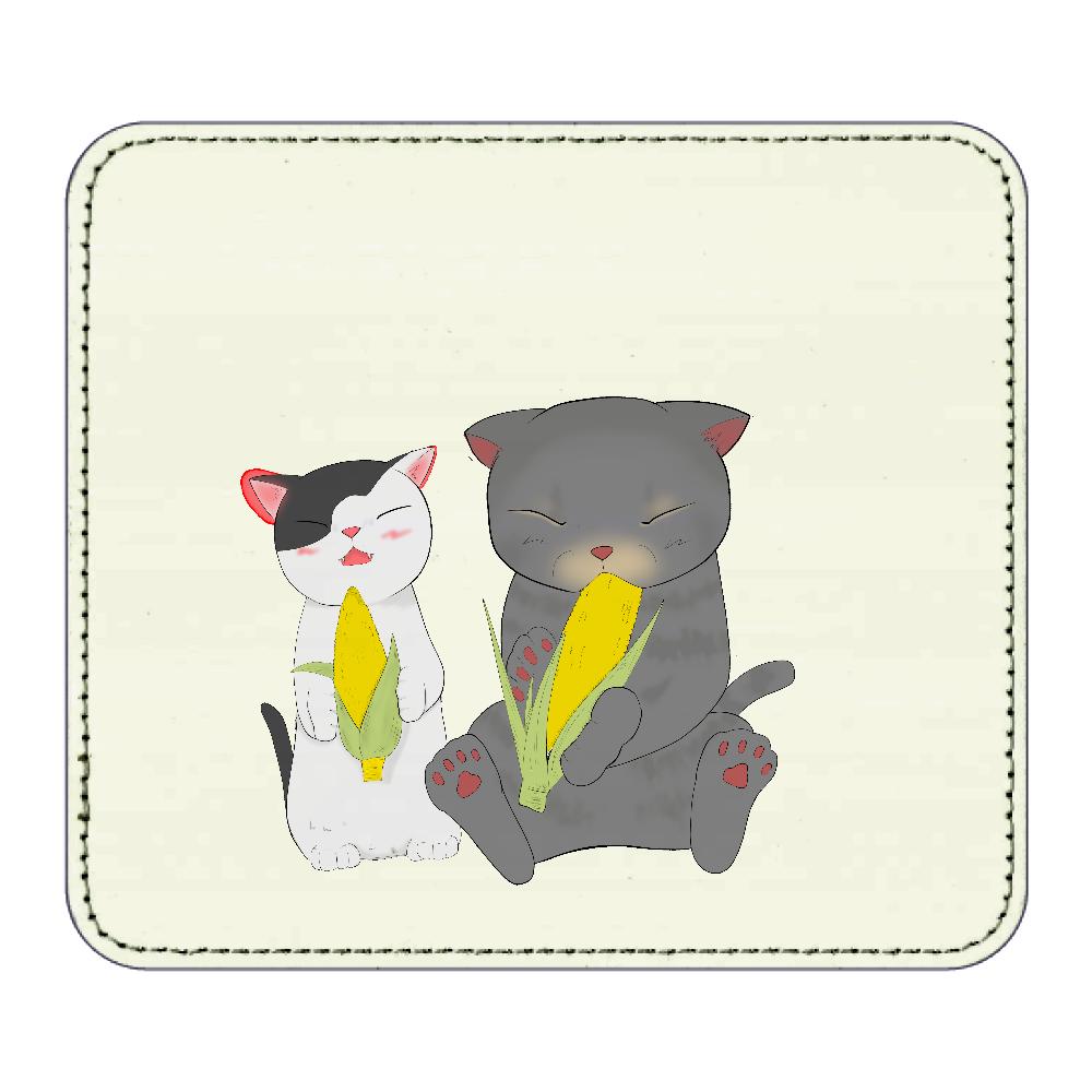 ロイとクランの夏休み レザーマウスパッド(スクエア)