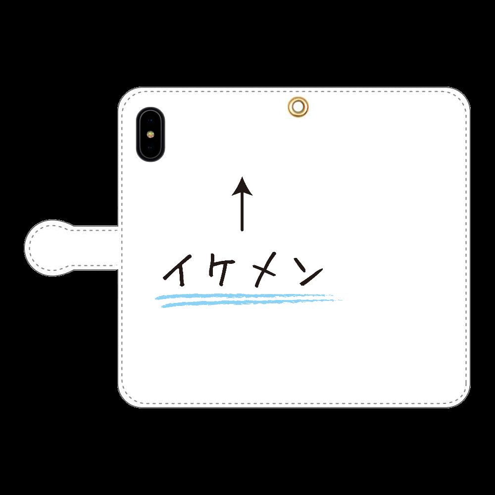 イケメン↑ iPhoneX/Xs 手帳型スマホケース