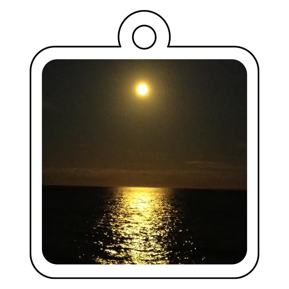 月の光キーホルダー アクリルキーホルダー 四角型 (4cm)