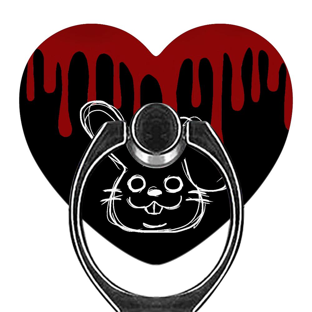 Rabbit スマホリング(ハート型)