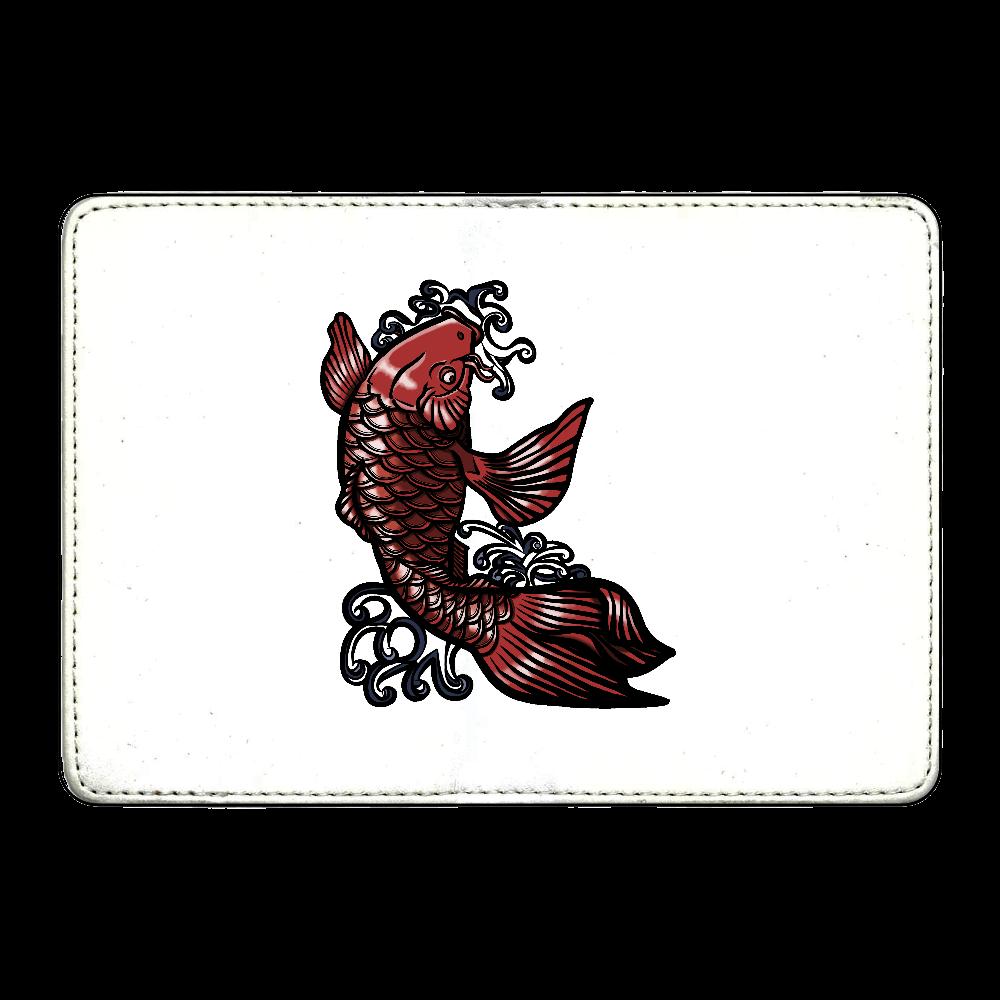 鯉の滝登り 赤 カード収納ケース