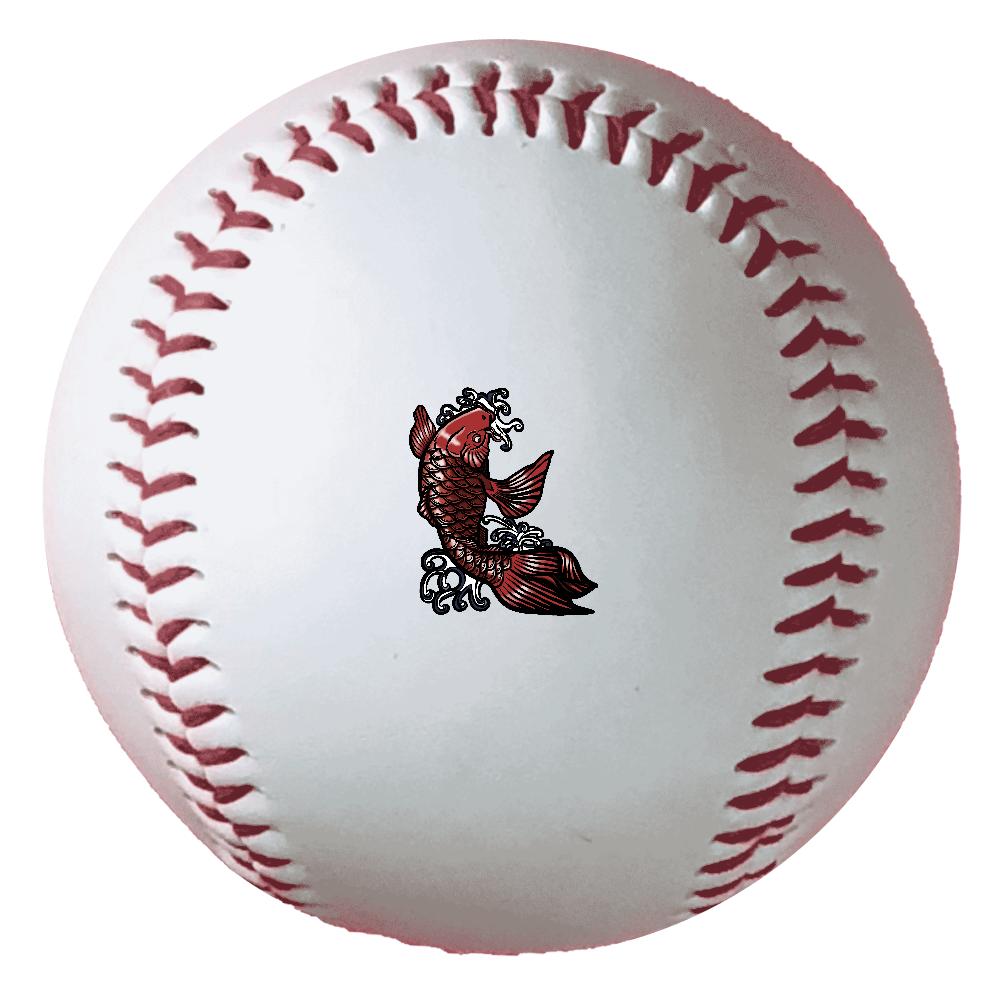 鯉の滝登り 赤 野球ボール(硬式)